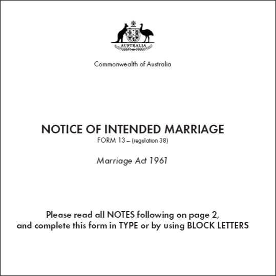 NOIM - The notice of intended marriage - Top Ten Immigration